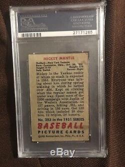 1951 Bowman Mickey Mantle Rc Rookie Psa 3 Bvg Sgc Yankees Not 1952 Topps Hof