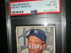1952 Bowman Mantle PSA 4 Centered looks better see pics