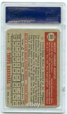 1952 TOPPS #311 MICKEY MANTLE rc rookie PSA 1 POOR