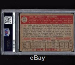 1952 TOPPS #312 JACKIE ROBINSON PSA Hi Number +1952 Topps #311 Mickey Mantle RP