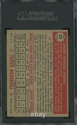 1952 Topps #311 Mickey Mantle New York Yankees RC Rookie HOF SGC 84 NM 7 HIGH#