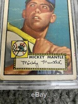 1952 Topps 311 Mickey Mantle PSA 1 (MK) NO back damage PWCC top 30% appeal