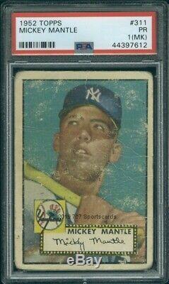 1952 Topps 311 Mickey Mantle PSA 1mk (7612)