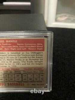 1952 Topps 311 Mickey Mantle PSA 2 Free shipping