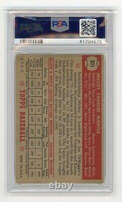 1952 Topps #311 Mickey Mantle PSA 3.5 VG Rookie