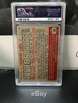 1952 Topps #311 Mickey Mantle PSA 3 VG