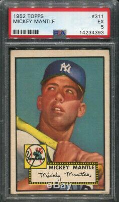 1952 Topps #311 Mickey Mantle Psa 5 Rookie Card High Number (14234393)