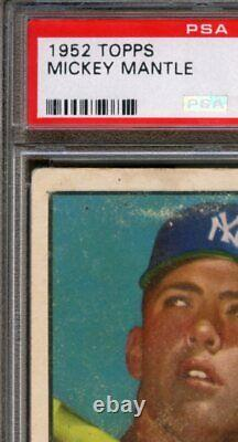 1952 Topps #311 Mickey Mantle RC PSA 1 High End Centered Nice Color