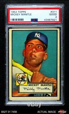 1952 Topps #311 Mickey Mantle Yankees PSA 2 GOOD