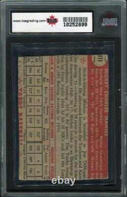 1952 Topps #311 Mickey Mantle Yankees RC Rookie HOF Graded KSA compare to PSA