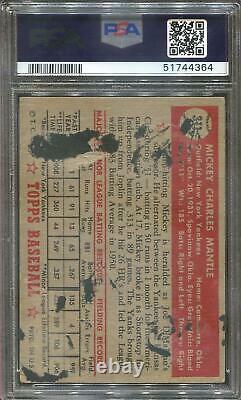 1952 Topps Baseball #311 Mickey Mantle PSA 1 4364