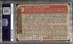 1952 Topps Baseball #311 Mickey Mantle Rookie Rc Psa 1 (mk) Yankees Centered