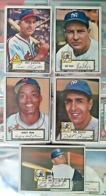 1952 Topps Baseball Near Complete Set (258/310) + 12 Hi #s Psa Stars Nice Ex/ex+