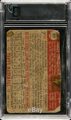 1952 Topps MICKEY MANTLE Rookie New York Yankees GAI Authentic