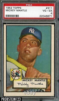 1952 Topps MICKEY MANTLE Rookie New York Yankees PSA 4