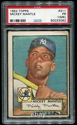 1952 Topps Mickey Mantle #311 PSA 1 HOLY GRAIL 50033062
