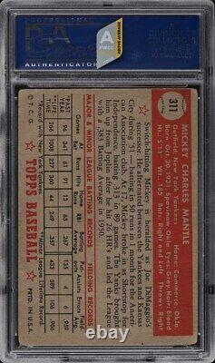 1952 Topps Mickey Mantle #311 PSA 1(mk) PR (PWCC-A)
