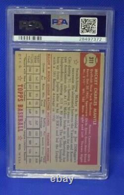 1952 Topps Mickey Mantle #311 PSA 3.5 The Holy Grail Dont Miss This Beauty HOF