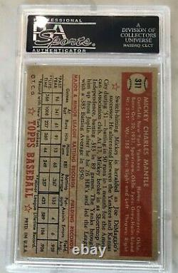 1952 Topps Mickey Mantle #311 PSA 3 The Holy Grail