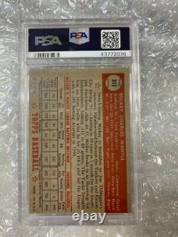 1952 Topps Mickey Mantle #311 PSA 4 VG-EX GREAT COLOR! ROOKIE