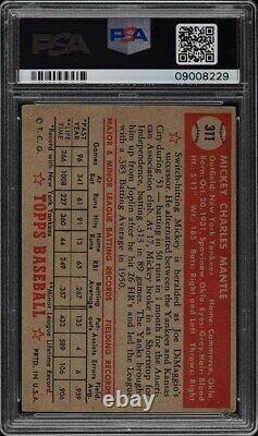 1952 Topps Mickey Mantle #311 PSA 5 EX
