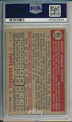 1952 Topps Mickey Mantle #311 PSA 6 EXMT