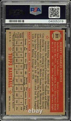1952 Topps Mickey Mantle #311 PSA 7 NRMT