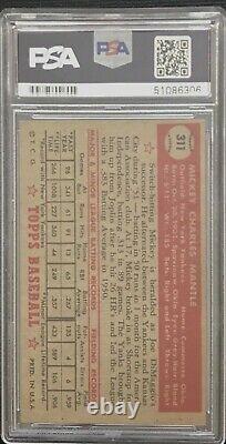 1952 Topps Mickey Mantle #311 PSA HOF