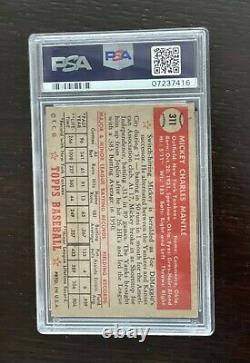 1952 Topps Mickey Mantle # 311 Rookie RC Graded PSA 5 EX+++