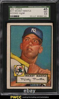 1952 Topps Mickey Mantle #311 SGC 3.5 VG+