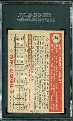 1952 Topps Mickey Mantle #311 SGC 4 GREAT COLOR & CENTERING Priced To Sell