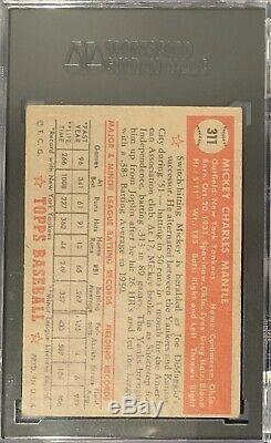 1952 Topps Mickey Mantle #311 SGC 4 Rookie Card RC