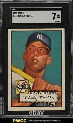 1952 Topps Mickey Mantle #311 SGC 7 NRMT