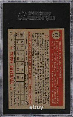 1952 Topps Mickey Mantle #311 SGC Auth