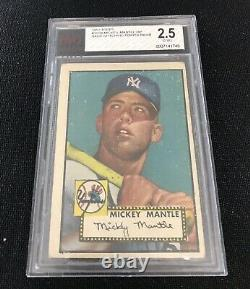 1952 Topps Mickey Mantle Card