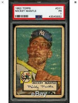 1952 Topps Mickey Mantle New York Yankees #311 PSA 1 Baseball Card