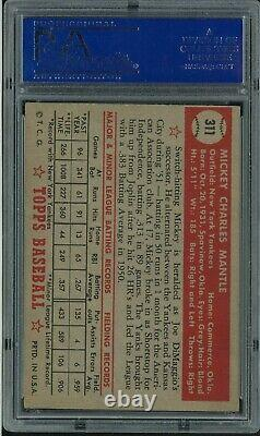 1952 Topps Mickey Mantle ROOKIE RC Baseball Card #311 PSA 5 EX
