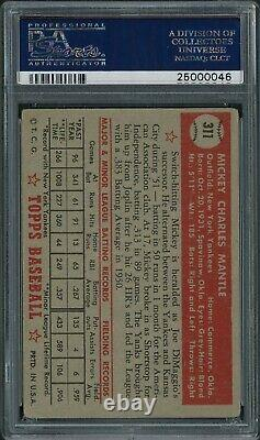 1952 Topps Mickey Mantle ROOKIE RC Card #311 PSA 2.5