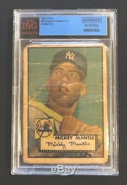 1952 Topps Mickey Mantle Rookie Card #311. BVG Authentic Altered
