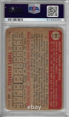 1952 Topps Mickey Mantle Rookie RC #311 PSA 1 New York Yankees Holy Grail