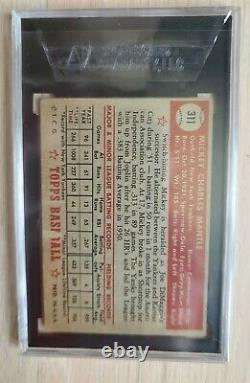 1952 Topps Mickey Mantle SGC 30
