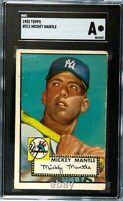 1952 Topps Mickey Mantle Sgc Authentic