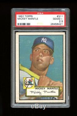 1952 Topps Set Break #311 Mickey Mantle PSA 2.5 GOOD+