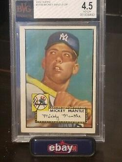 1952 topps mickey mantle. Beckett psa 4.5. Undergraded great color