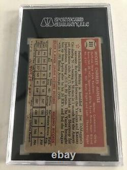 1952 topps mickey mantle rookie card 311 Sgc Authentic. Regrade Psa 2-3