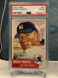 1953 Mickey Mantle psa 2