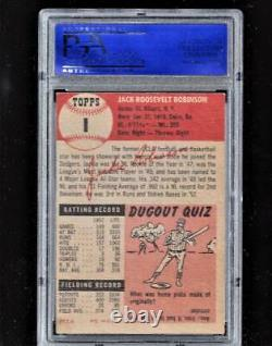 1953 Topps #1 JACKIE ROBINSON PSA 6 EXMT SHARP! + 1952 Topps Mickey Mantle re