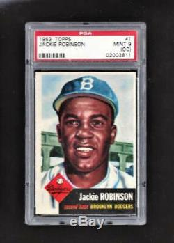 1953 Topps #1 Jackie Robinson PSA 9 MINT Population 1/9 Ultra Sharp First Card