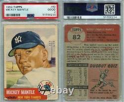 1953 Topps #82 Mickey Mantle HOF Yankees PSA 2 SHARP AMAZING new holder