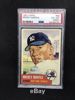 1953 Topps #82 Mickey Mantle New York Yankees Baseball Card PSA 6 LOOKS NICER